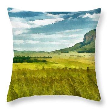 Forgotten Fields Throw Pillow by Ayse and Deniz