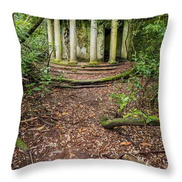 Forgotten Folly Throw Pillow by Adrian Evans