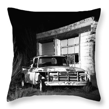 Throw Pillow featuring the photograph Forgotten Ford by Christopher McKenzie
