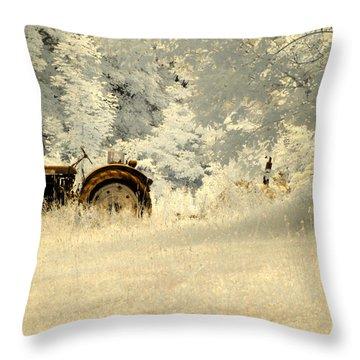 Forgotten Harvest Throw Pillow by Luke Moore