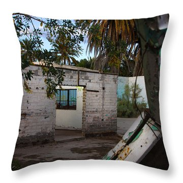 Throw Pillow featuring the photograph Forgotten by Kandy Hurley