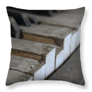 Forgotten Keys Throw Pillow