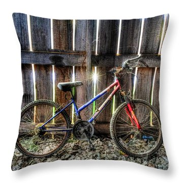 Forgotten Replaced By New Set Of Wheels Throw Pillow by Dan Friend