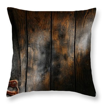Forgotten Tool Throw Pillow by Olivier Le Queinec