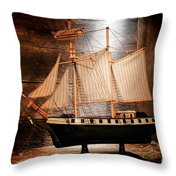Forgotten Toy Throw Pillow by Olivier Le Queinec