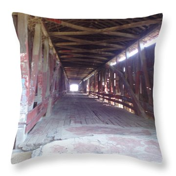 Throw Pillow featuring the photograph Forgotten Tunnel by Fortunate Findings Shirley Dickerson