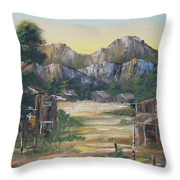 Forgotten Village Throw Pillow