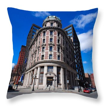 Throw Pillow featuring the photograph Fork Albany N Y by John Schneider