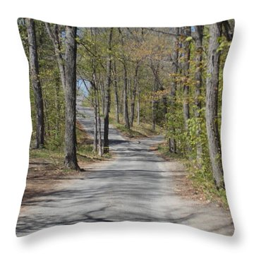 Fork In The Road Throw Pillow by Catherine Gagne