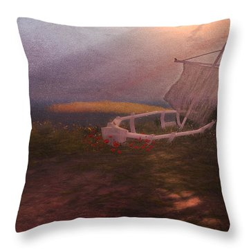 Forlorn Throw Pillow by Kylie Sabra