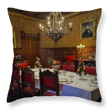 Formal Dining Room Throw Pillow by Susan Candelario