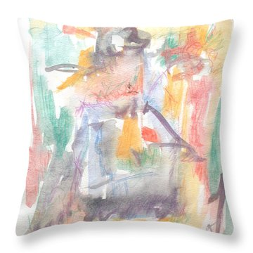 Formal Signature Throw Pillow by Esther Newman-Cohen
