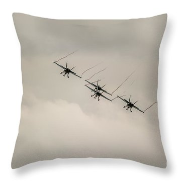 Formation Flying Throw Pillow