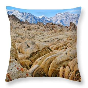 Formations Of Stone Throw Pillow