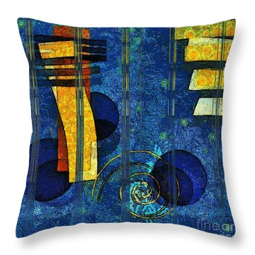 Formes - 0101rgnlbl Throw Pillow by Variance Collections