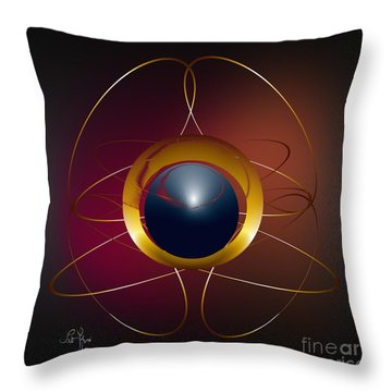 Forms Of Light Throw Pillow by Leo Symon