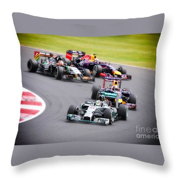 Formula 1 Grand Prix Silverstone Throw Pillow