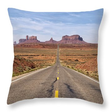 Forrest Gump Monument Valley View Throw Pillow