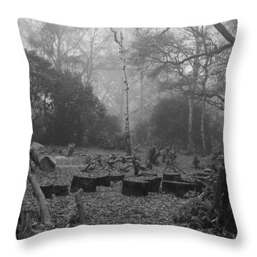 Throw Pillow featuring the photograph Forset Trees by Maj Seda