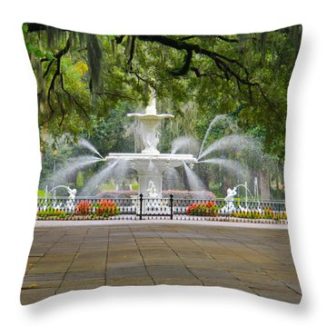 Forsyth Fountain Throw Pillow