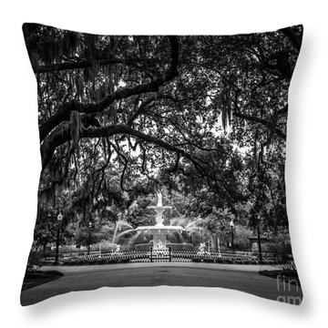 Forsyth Park Throw Pillow by Perry Webster
