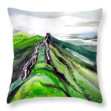 Fort 1 Throw Pillow by Anil Nene