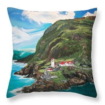 Fort Amherst Newfoundland Throw Pillow