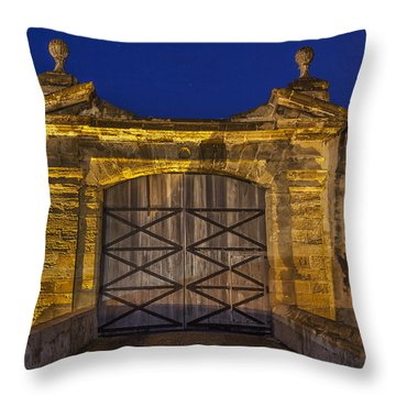 Throw Pillow featuring the photograph Fort Castillo San Cristobal Inpuerto Rico by Bryan Mullennix