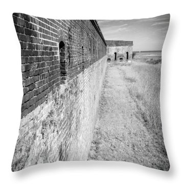 Fort Clinch II Throw Pillow by Wade Brooks