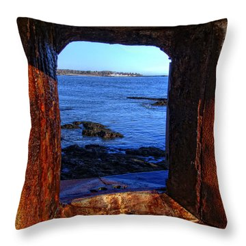 Fort Constitution Throw Pillow by Joann Vitali