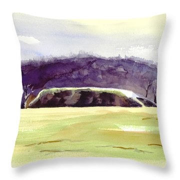 Fort Davidson Battlefield Mid Day Throw Pillow by Kip DeVore