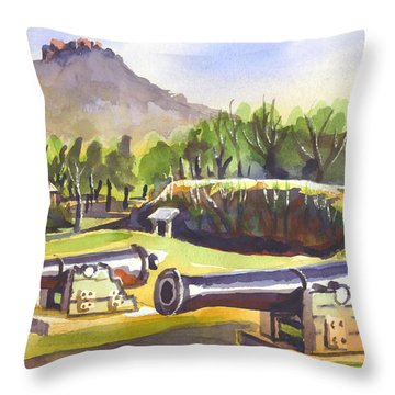 Fort Davidson Cannon II Throw Pillow by Kip DeVore
