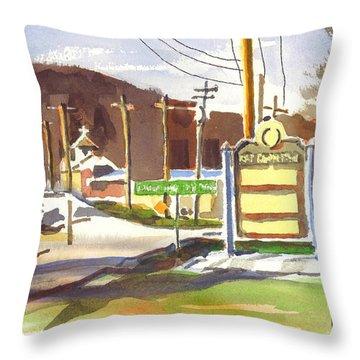 Fort Davidson Memorial Pilot Knob Missouri Throw Pillow by Kip DeVore