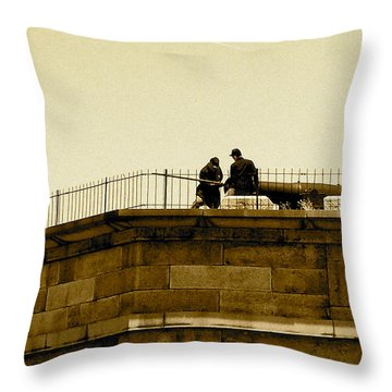 Fort Delaware Cleaning Crew Throw Pillow