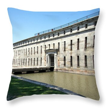 Fort Delaware Sally Port Entrance Throw Pillow by Pamela Hyde Wilson