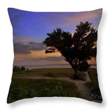 Fort Fisher Sunset  Throw Pillow