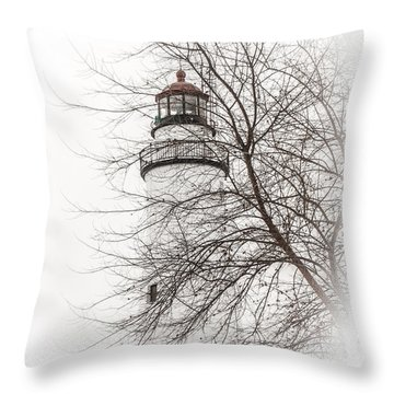 Fort Gratiot Lighthouse  Throw Pillow