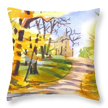 Fort Hill In Arcadia Throw Pillow by Kip DeVore