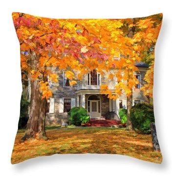 Fort Hunter Autumn Throw Pillow