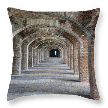 Fort Jefferson Arches Throw Pillow