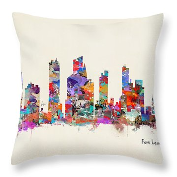 Fort Lauderdale Florida Throw Pillow