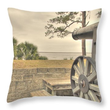 Fort Mcallister Cannon Throw Pillow