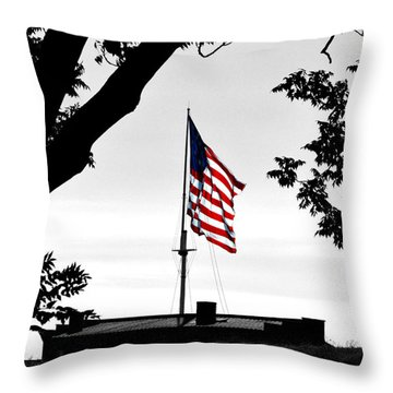 Fort Mchenry Flag Color Splash Throw Pillow