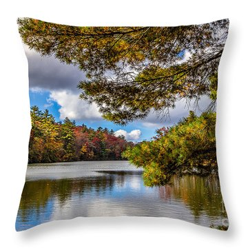 Fort Mountain State Park Throw Pillow