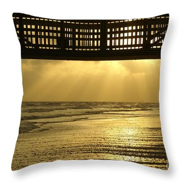 Fort Myers Golden Sunset Throw Pillow