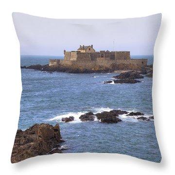 Fort National - Saint-malo Throw Pillow by Joana Kruse