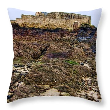Fort National In Saint Malo Brittany Throw Pillow by Olivier Le Queinec