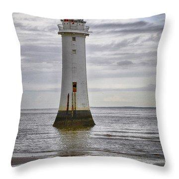 Fort Perch Lighthouse Throw Pillow