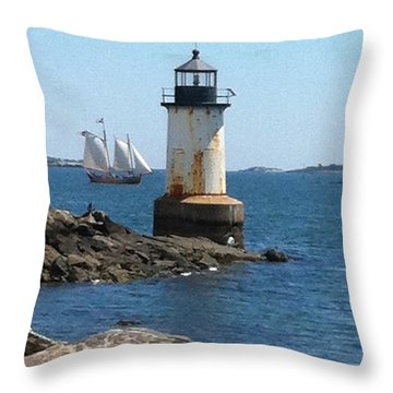 Fort Pickering Light Throw Pillow by Denyse Duhaime