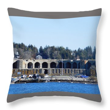 Fort Popham In Maine Throw Pillow